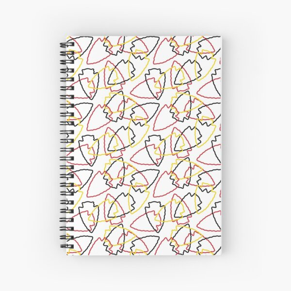 Chiefs Arrowhead Pattern on White Spiral Notebook