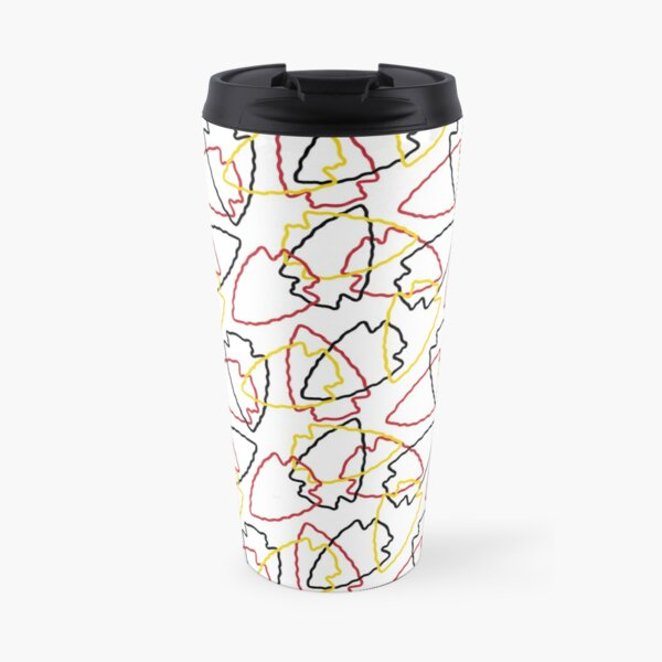 Chiefs Arrowhead Pattern on White Travel Mug