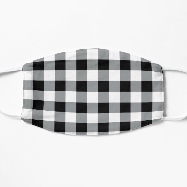 Farmhouse Style Black Buffalo Check Pattern Mask