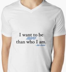 I want to be more than who I am. - Kate Beckett Men's V-Neck T-Shirt