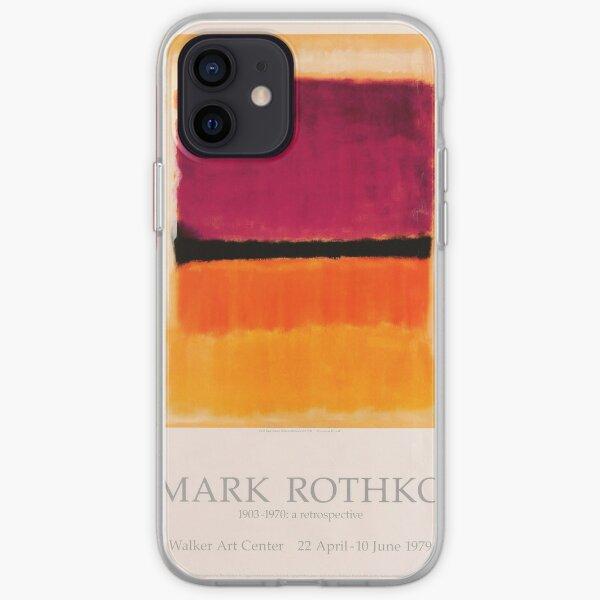 Cartel de la exposición de Mark Rothko 1979 Funda blanda para iPhone