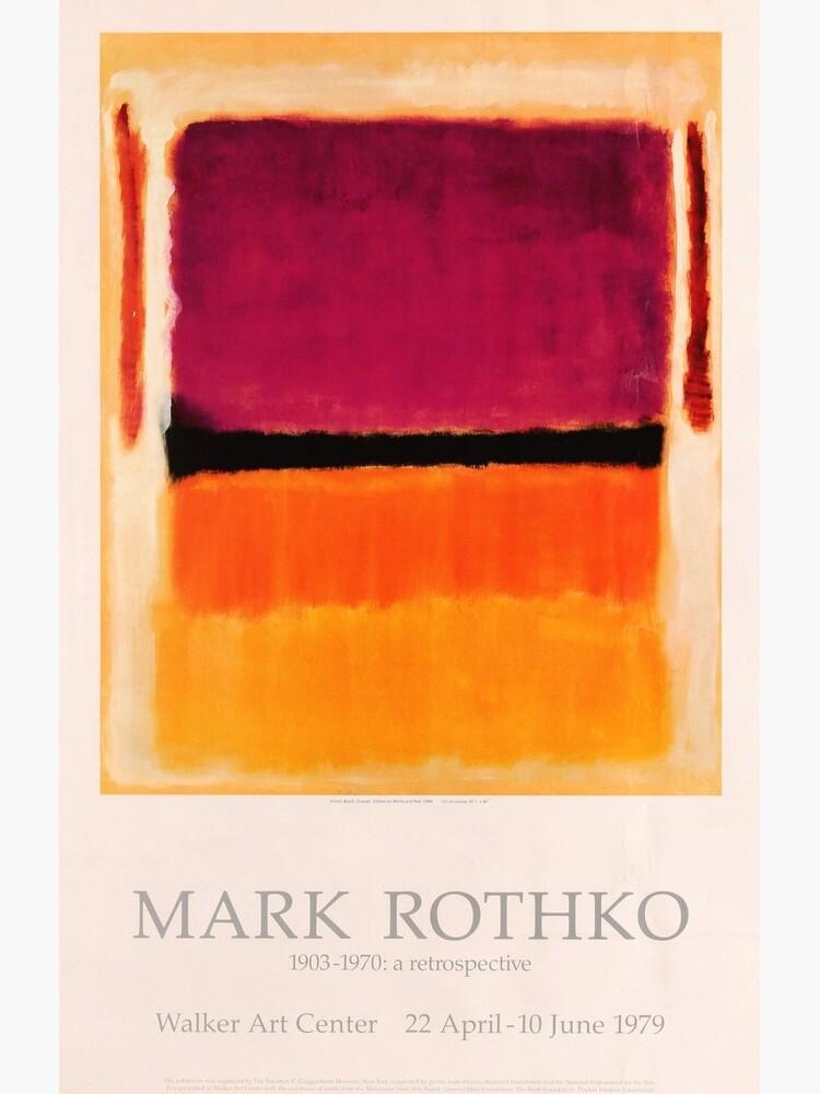 Mark Rothko Exhibition poster 1979 by DejaVuStudio