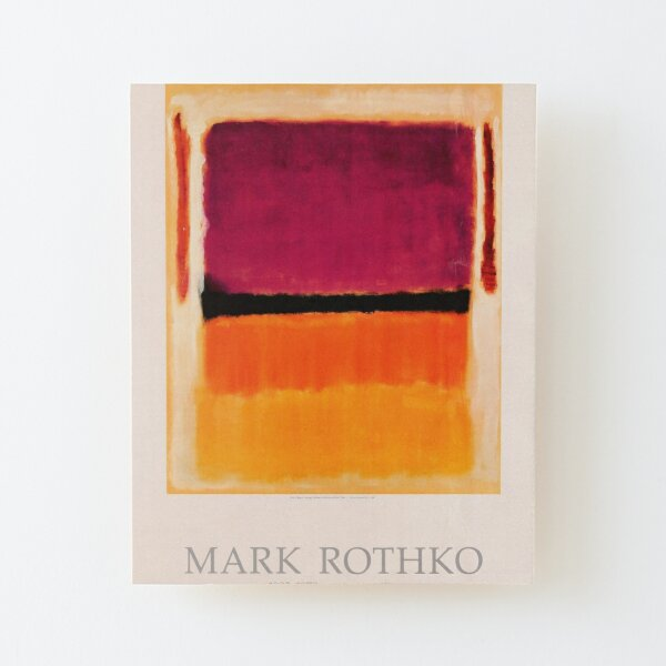 Mark Rothko Exhibition poster 1979 Wood Mounted Print