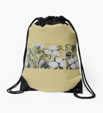 Cotton Triptych Drawstring Bag