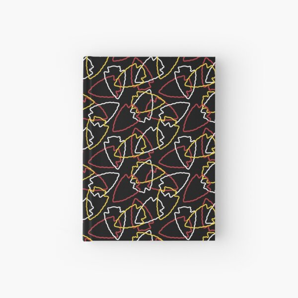 Chiefs Arrowhead Pattern on Black Hardcover Journal