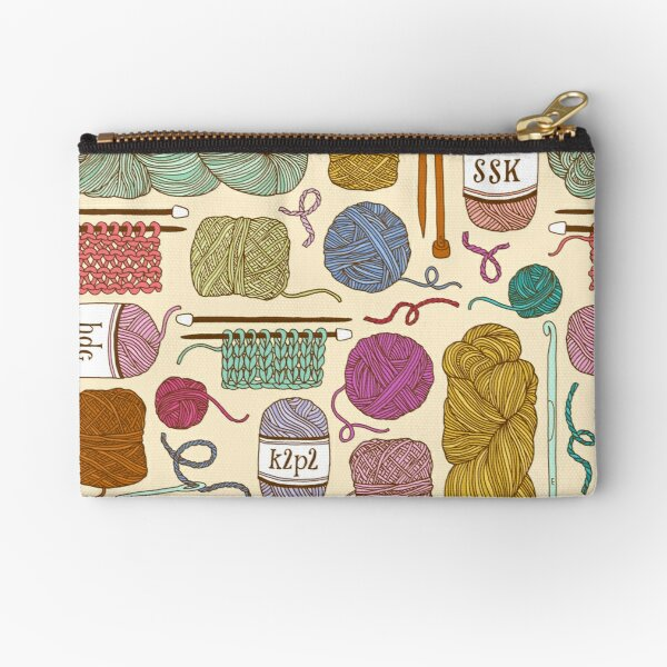 KNIT or CROCHET? Zipper Pouch
