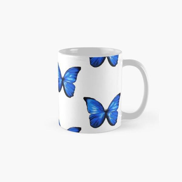 multiple blue butterflys drawing Classic Mug