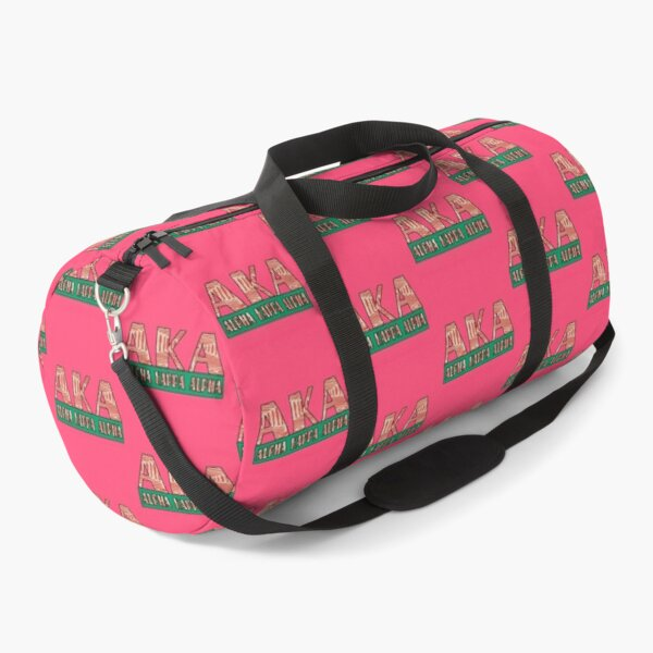 Funky Striped Print AKA fabric collage  Duffle Bag