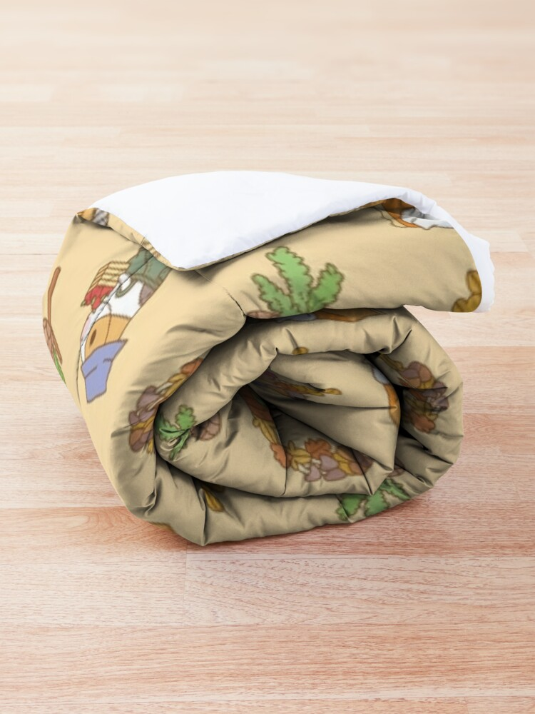 Alternate view of Bubu the Guinea pig, Fall and Pie  Comforter
