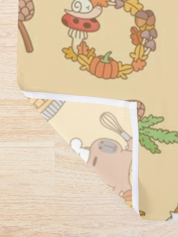 Alternate view of Bubu the Guinea pig, Fall and Pie  Shower Curtain