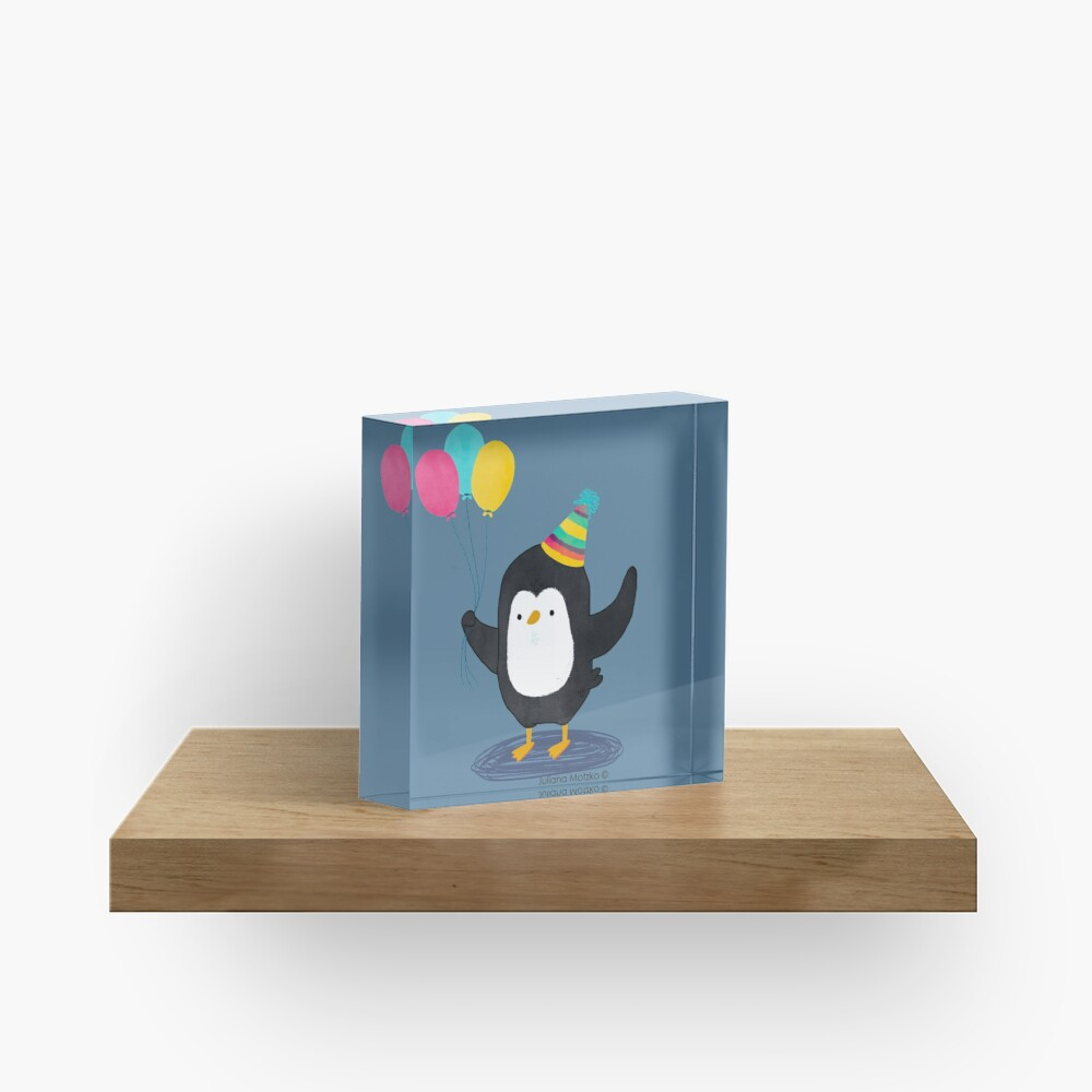 Birthday Penguin Acrylic Block