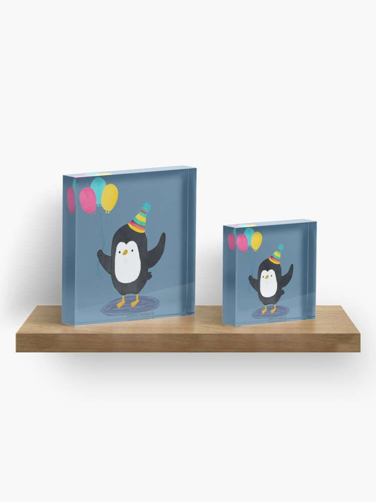Alternate view of Birthday Penguin Acrylic Block