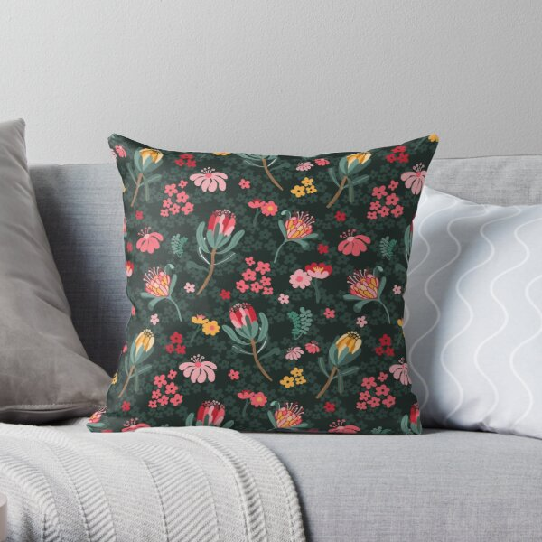 Australian Native Flowers Throw Pillow