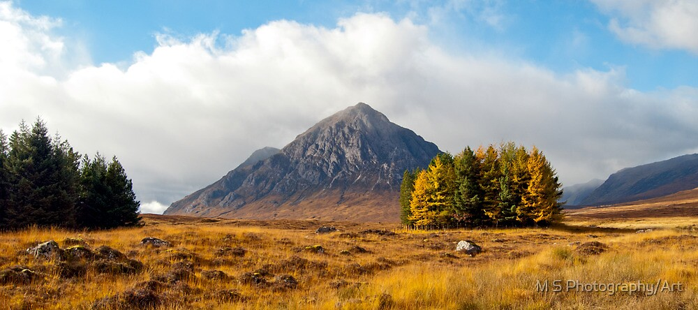 Buachaille Etive Mor by M S Photography/Art