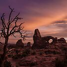 Sunset at Turret Arch by Armando Martinez