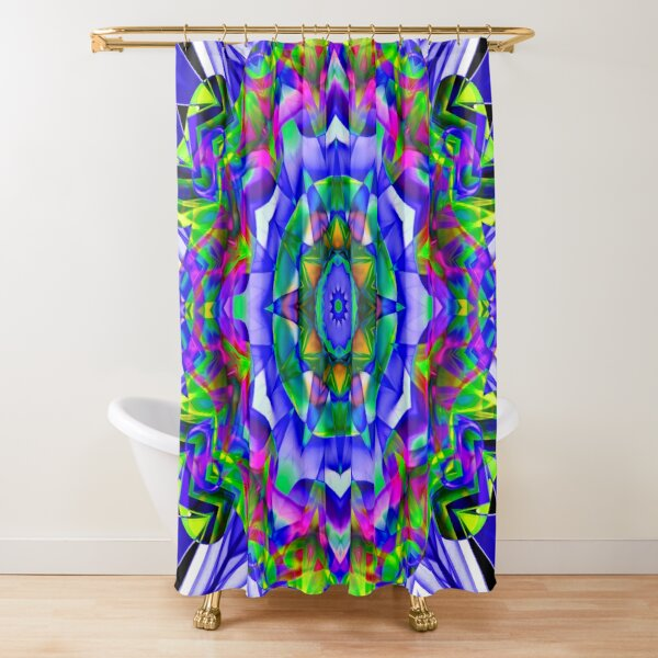 Recycled Smoke Design Shower Curtain