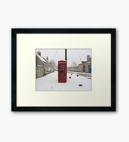 Telephone box in the Snow Framed Print
