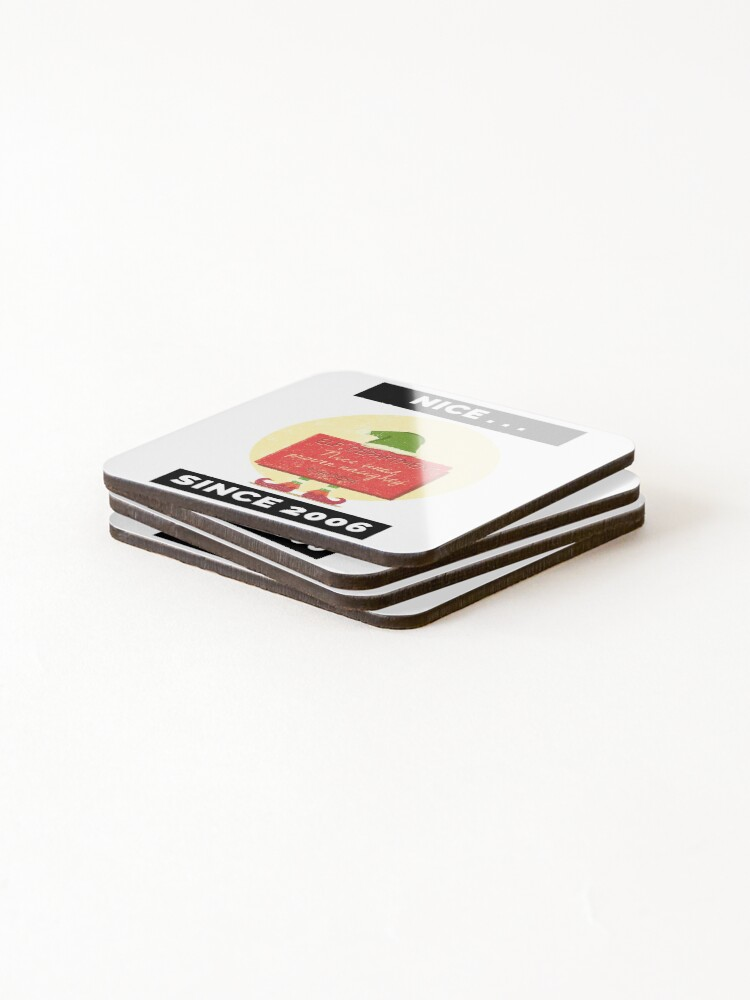 Alternate view of Nice Since 2006: Nice Until Proven Naughty Coasters (Set of 4)