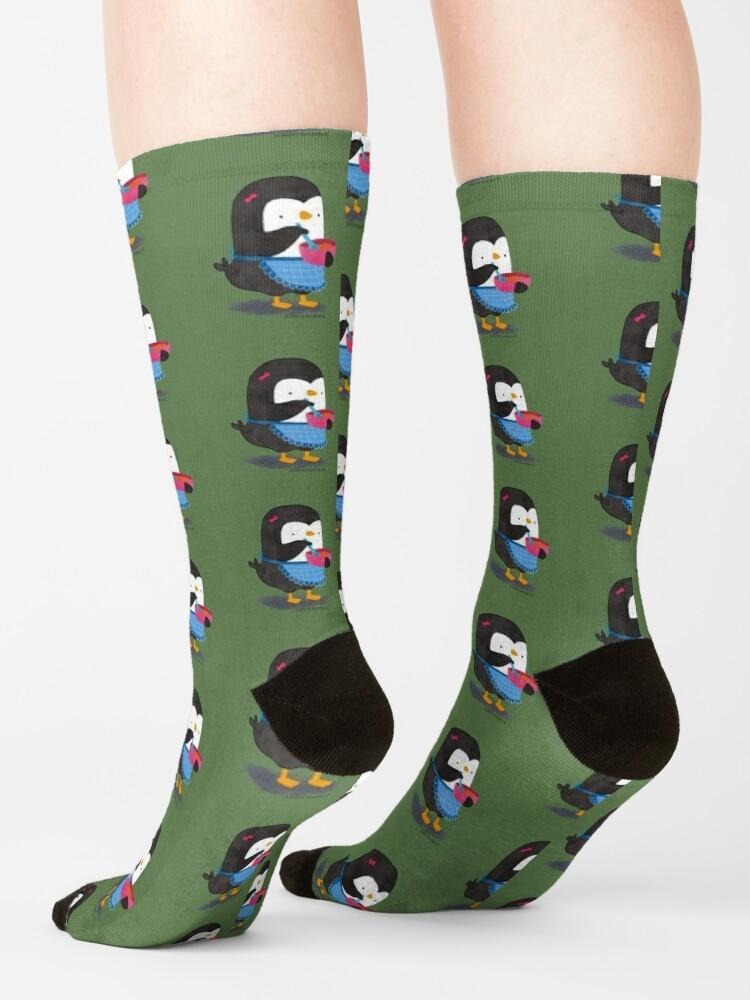 Alternate view of Daisy Penguin cooking Socks