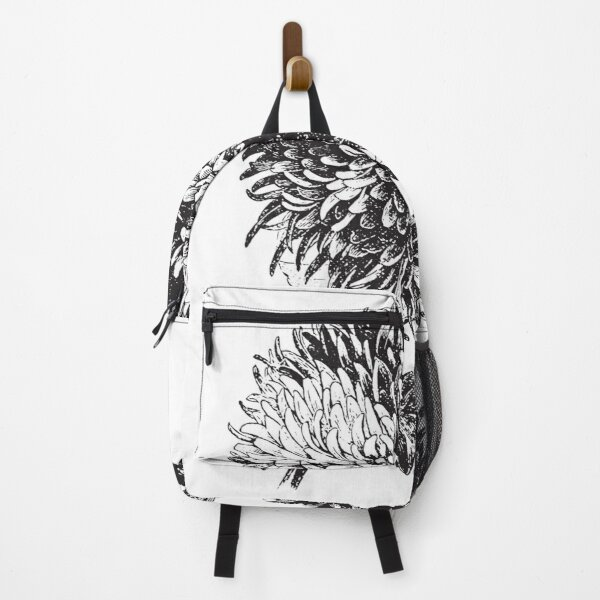 Floral Bouquet roses black and white art 8 Backpack