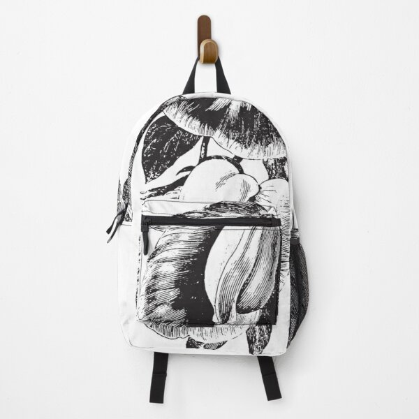 Floral Bouquet roses black and white art 7 Backpack