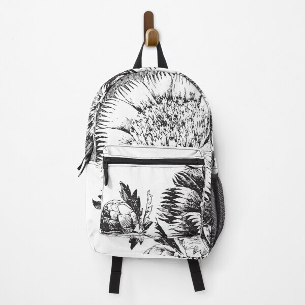 Flower Bouquet roses black and white art 6 Backpack