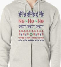 McClane Christmas Sweater Zipped Hoodie