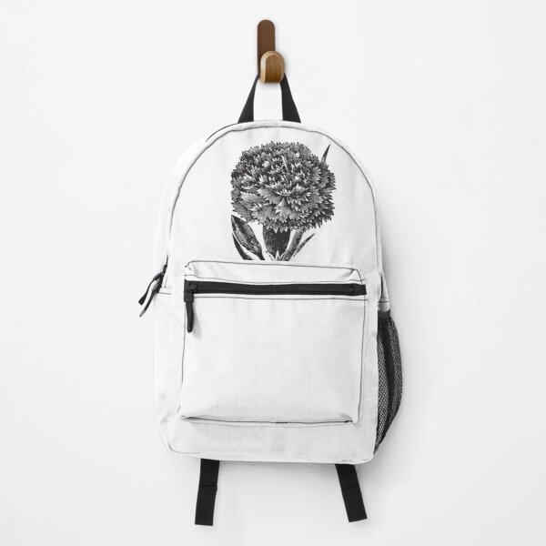 Flower Bouquet roses black and white art 4 Backpack
