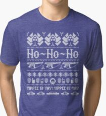 McClane Christmas Sweater White Tri-blend T-Shirt