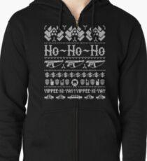 McClane Christmas Sweater White Zipped Hoodie