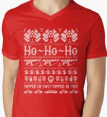 McClane Christmas Sweater White Men's V-Neck T-Shirt