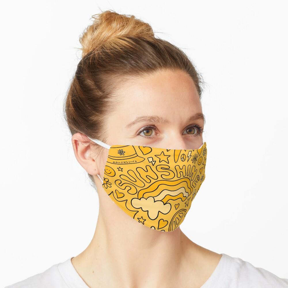 Yellow Print Mask