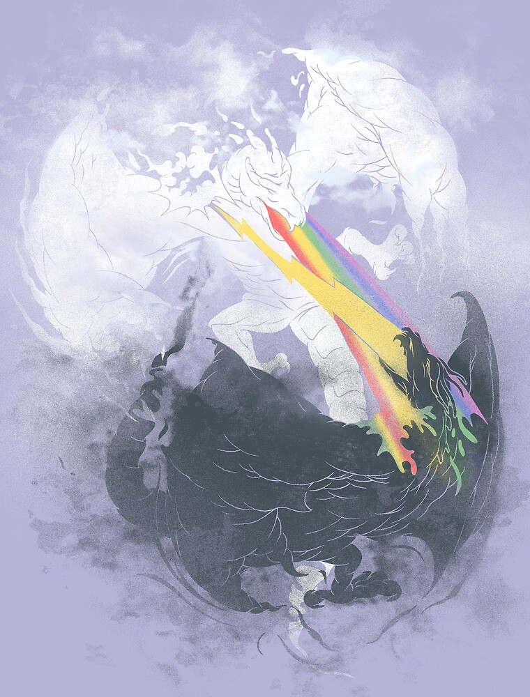 Clash of the sky dragons by Jonah Block