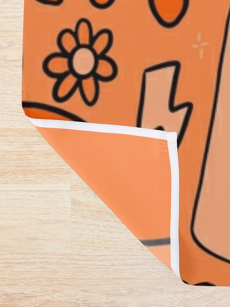 Alternate view of Orange Print Shower Curtain