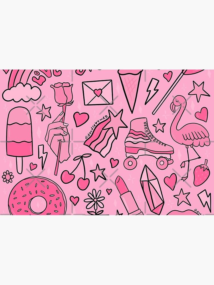 Pink Print by doodlebymeg