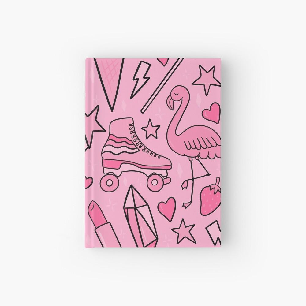 Pink Print Hardcover Journal