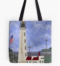 Home Port Lighthouse after Destruction Island Light Tote Bag