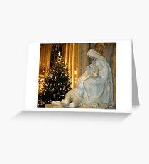 Pieta and Christmas Tree Greeting Card