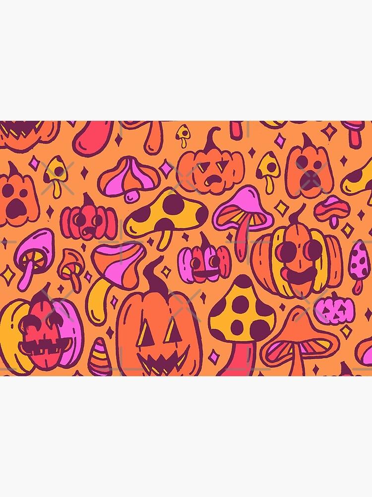 Mushrooms and Pumpkins by doodlebymeg