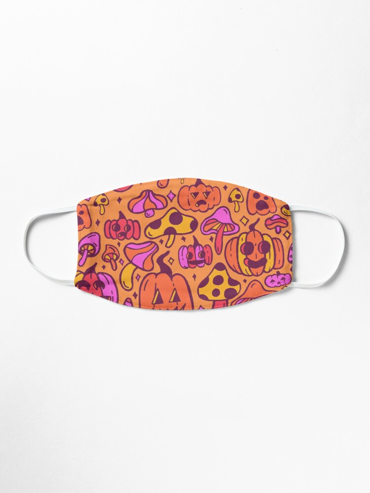 Alternate view of Mushrooms and Pumpkins Mask