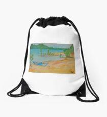 Beach at Lisbon Bottoms Drawstring Bag