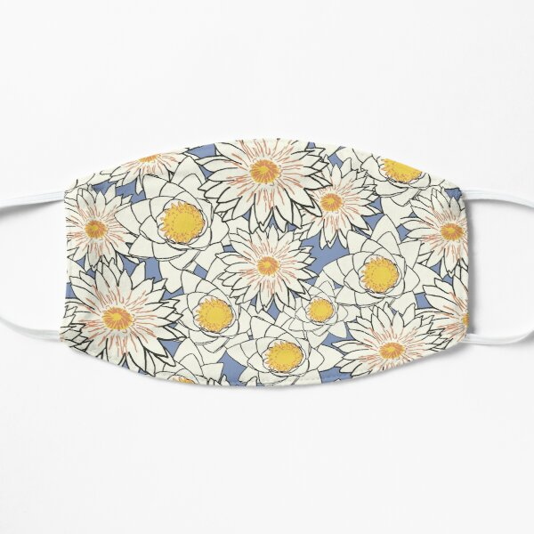 Yellow Flowers Mask - Floral Pattern Mask