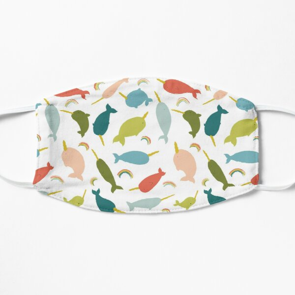 Happy Rainbow Narwhals Mask
