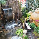 Model Train, Model Building, New York Botanical Garden Holiday Train Show, Bronx, New York by lenspiro