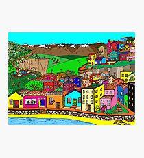 Valparaiso inspired village Photographic Print