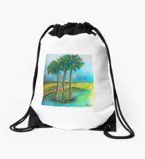 Cool Palms in St. Augustine Drawstring Bag