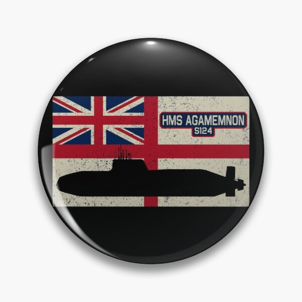 ROYAL NAVY SUBMARINE SERVICE Fleet submarine HMS AGAMEMNON PIN BADGE
