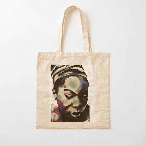 Black is the Color Nina Simone Cotton Tote Bag