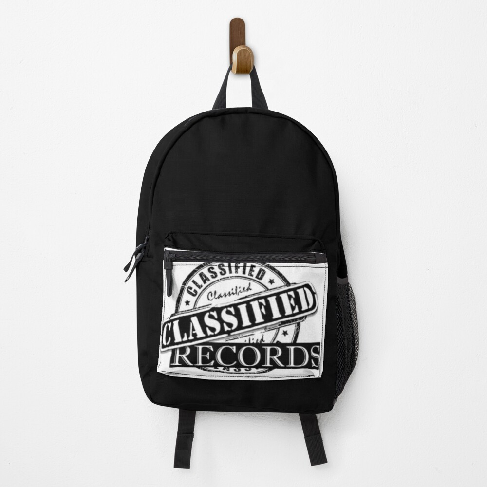 Classified Records Stamp Logo Backpack