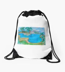 Pool in Deland Florida Drawstring Bag